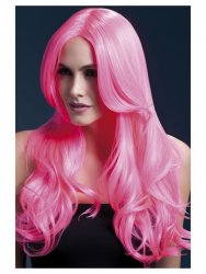 Long Curled Pink Wig