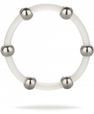 Steel Beaded Silicone Ring XL penisring